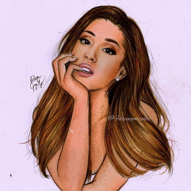 Im back yall!!! new drawings this weekI did this one like two days ago pls tag @arianagrande and follow my personal @felipegoca if u want I love you
