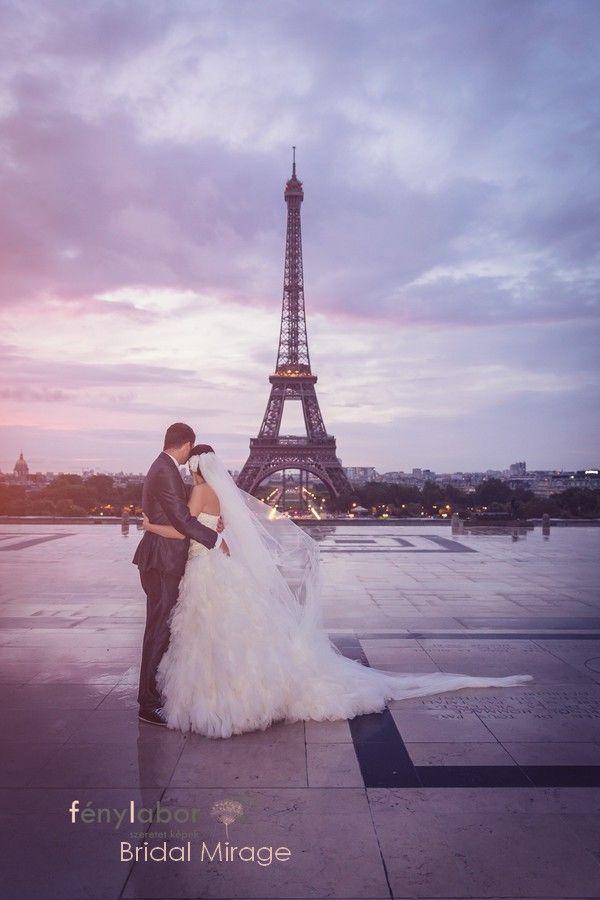 Párizs a szerelem városa (Bridal Mirage fátyollal)