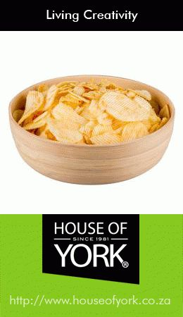 With its modern and eco-friendly design, this bamboo bowl from House of York has an antibacterial property which limits the growth of bacteria. Perfect for salads and chips, this bowl sell from only R59.95. #bamboo #bowl #saladbowl