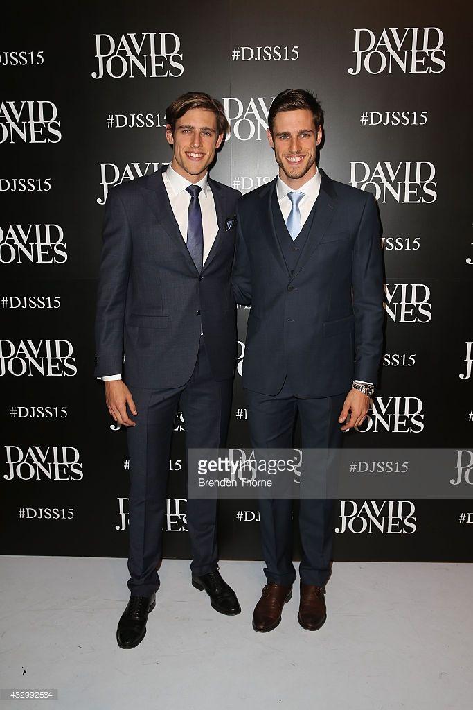 Zac and Jordan Stenmark arrive ahead of the David Jones Spring/Summer 2015 Fashion Launch at David Jones Elizabeth Street Store on August 5, 2015 in Sydney, Australia.