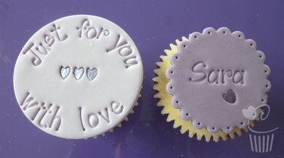 Purple Cupcakes Exclusive Embossing Alphabet Stamps for decorating your cupcakes