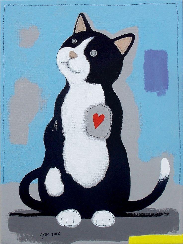 """andrea mattiello """"Micio"""" acrilico, grafite e pastello su tela cm 18x24; 2016 #andreamattiello #mattielloandrea #artist #emergingartist #artistaemergente #contemporaryart #collage #cat"""
