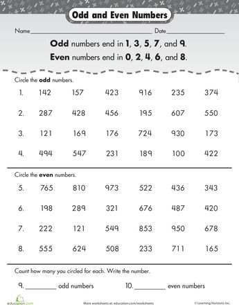 f1d93ba5acd2cb9f25f05e670f9b5d16--teaching-math-worksheets Odd And Even Numbers Worksheets For Grade on