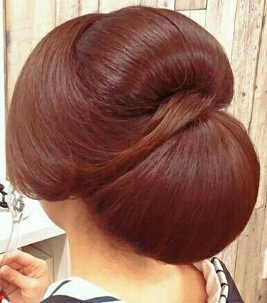 Great updo; nice colour too.