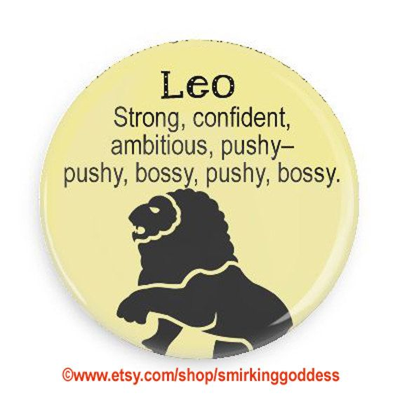 Funny Zodiac Fridge Magnet-Leo Horoscope