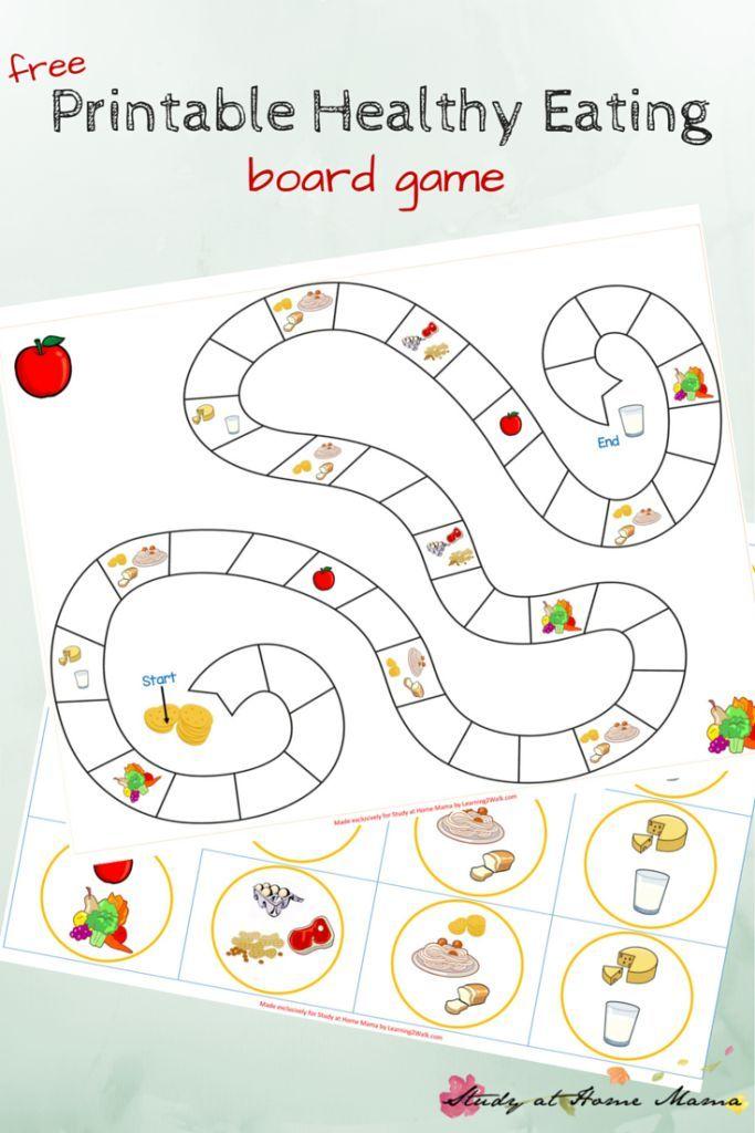Kids Kitchen Free Printable Board Game For Teaching Kids