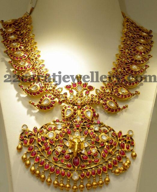 Heavy Mango Necklace Latest | Jewellery Designs
