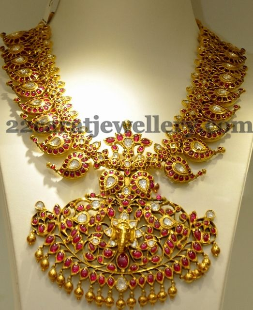 Heavy Mango Necklace Latest | Jewellery Designs