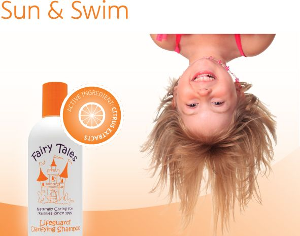 Remove sea salt, chlorine green and daily build-up with gentle fruit extracts. Vitamins and minerals restore softness, boost shine and protect hair.  Available at Sharkey's Cuts for Kids.  See our website for locations: www.sharkeyscutsforkids.com