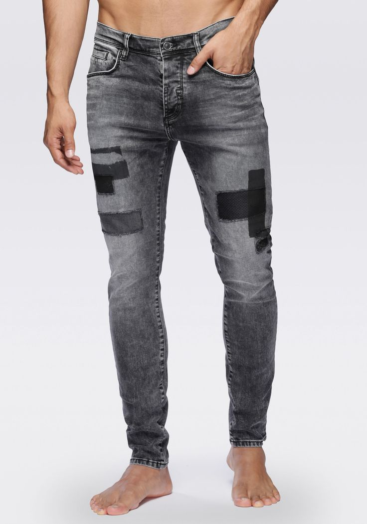 Carrot fit jeans with a vintage effect