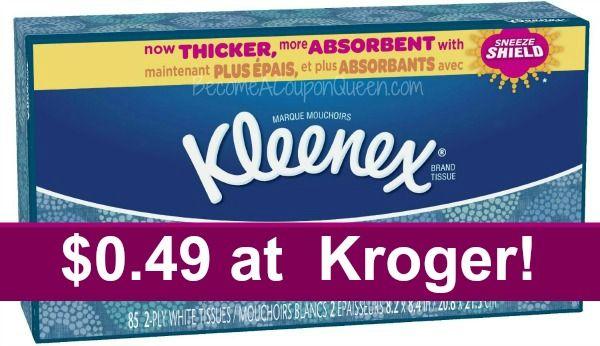 Kroger: Kleenex Facial Tissue Only $0.49!