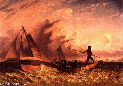 Chaloupe du messager de Thomas Baines (1820-1875, United Kingdom)