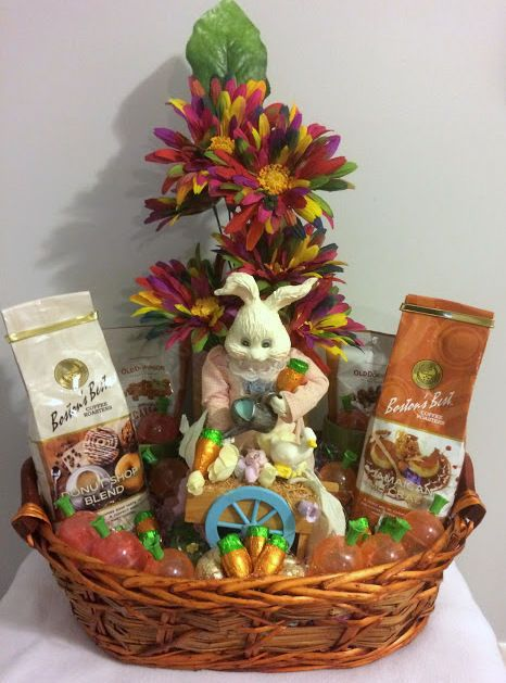 Order gift baskets retail products flowers candy nuts cheese 50 ebay handmade vintage gardening bunny coffee treat easter gift basket handmade negle Image collections