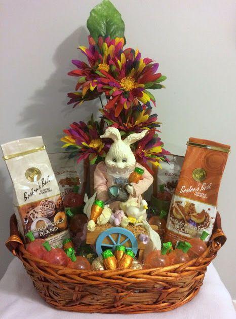 $50 @Ebay Handmade Vintage Gardening Bunny Coffee Treat Easter Gift Basket  #Handmade