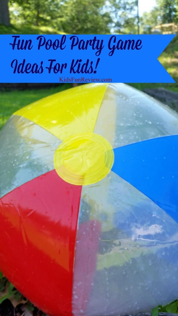 Kids Pool Party Game Ideas