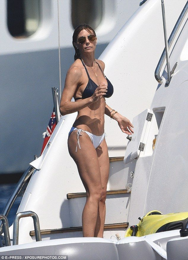 How does she do it? Sylvester Stallone's wife Jennifer Flavin, 47, looked incredible in a bikini as she celebrated her husband's 70th birthday on a luxury vessel in St Tropez on Saturday