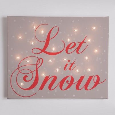 Let it snow Illuminated Canvas Night Light order by the 3rd dec to guarantee christmas delivery