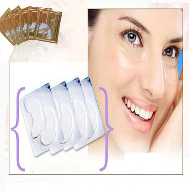 $1.88 for 5 Pairs=10pcs Platena Gold Collagen Crystal…