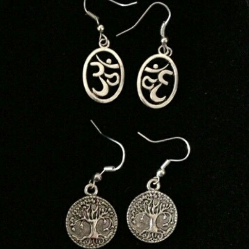 """Ohm Symbol Earrings $5 Tree of Life Earrings $6  To place an order, visit our Facebook page """"Moonsong Jewellery"""" or email moonsongjewellery@gmail.com"""