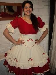 Resultado de imagen para vestidos de huasa chilena