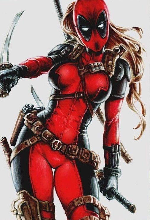Deadpool with girls speaking, you