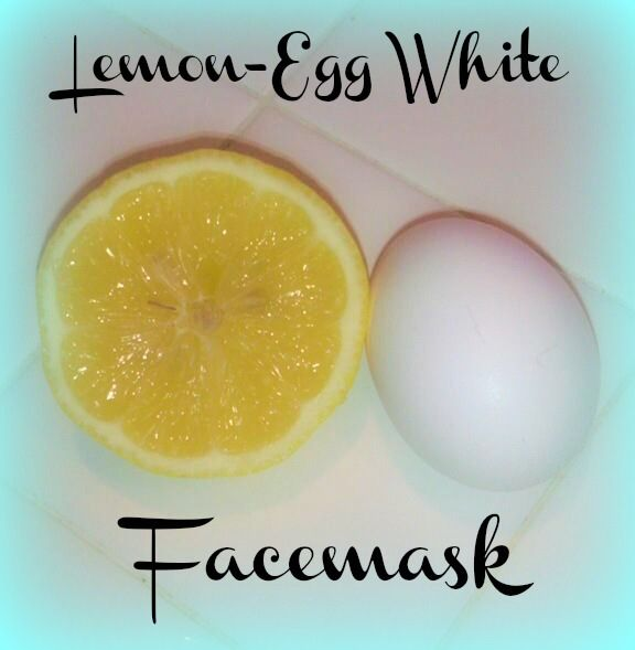 Lemon Egg-White face mask. Clear up acne and black heads and nourish skin with proteins