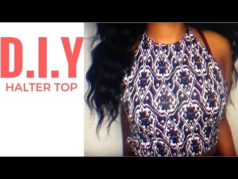 464cc1aa33f5e5 DIY Backless Halter Top! EASY Sewing - YouTube
