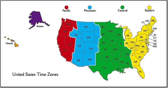 Alaska Time Zone Map Image what time is it really us time ...