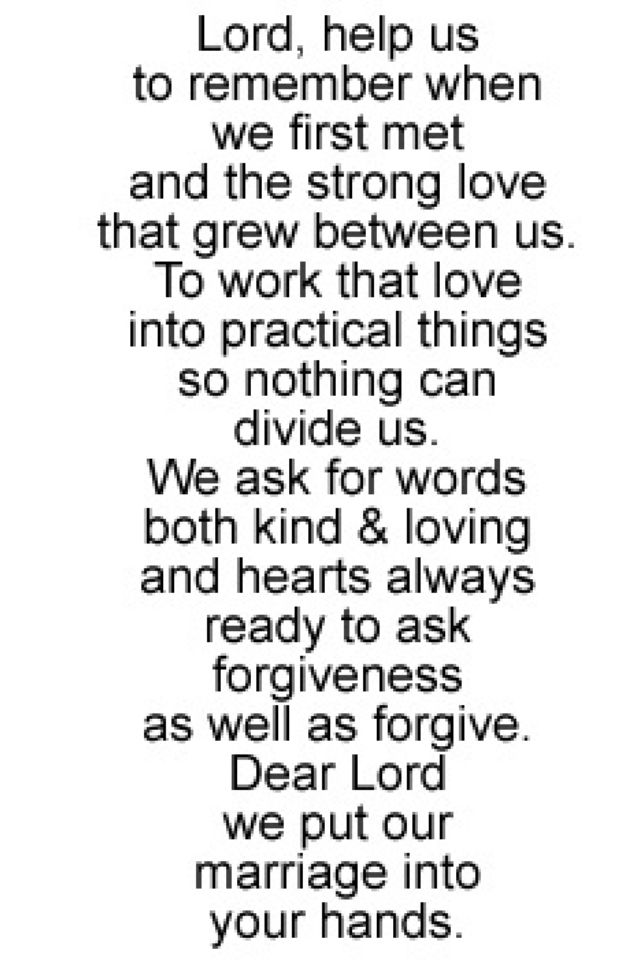 Marriage Prayer - so truthfully penned! I want this framed in our house some where