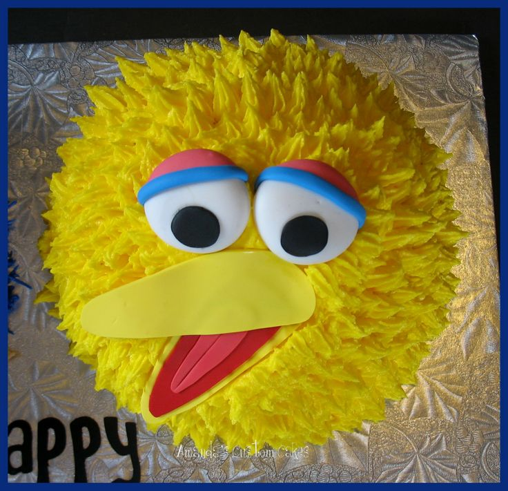 Amandas Custom Cakes Cookie Monster  Big Bird Cake