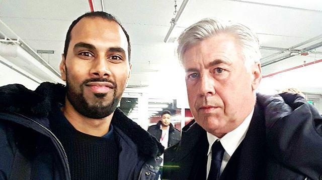 A picture with @fcbayern head coach @mrancelotti at the Telekom Cup 2017. | 📍 ESPRIT Arena, Düsseldorf | 🔖 #TelekomCup #TelekomFussball #F95 #FCBayern #Mainz05 #Borussia #ESPRITArena #Düsseldorf #football #Fussball #Fuppes #CPDFootball #Bundesliga #Sat1 #ran #soccer #potd #instadaily #selfie #MiaSanMia #Ancelotti #coach #manager #Bayern #München #MUC #Italia #Mister #CarloAncelotti