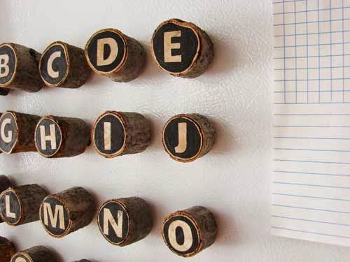 magnetic letters from wood