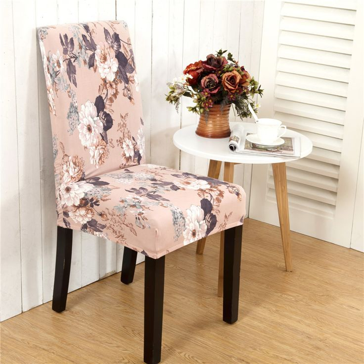 Favorable Elegant Flower Landscape Elastic Stretch Chair Seat Cover Computer Dining Room Home Wedding Decor - NewChic Mobile