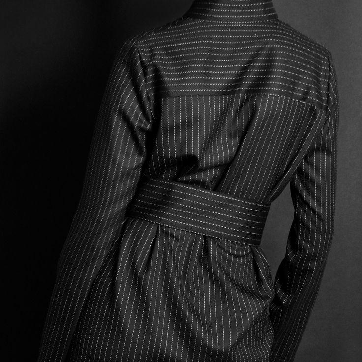 Black Pinstripes Dress http://honeygold.eu/product/pinstripe-shirt-dress/
