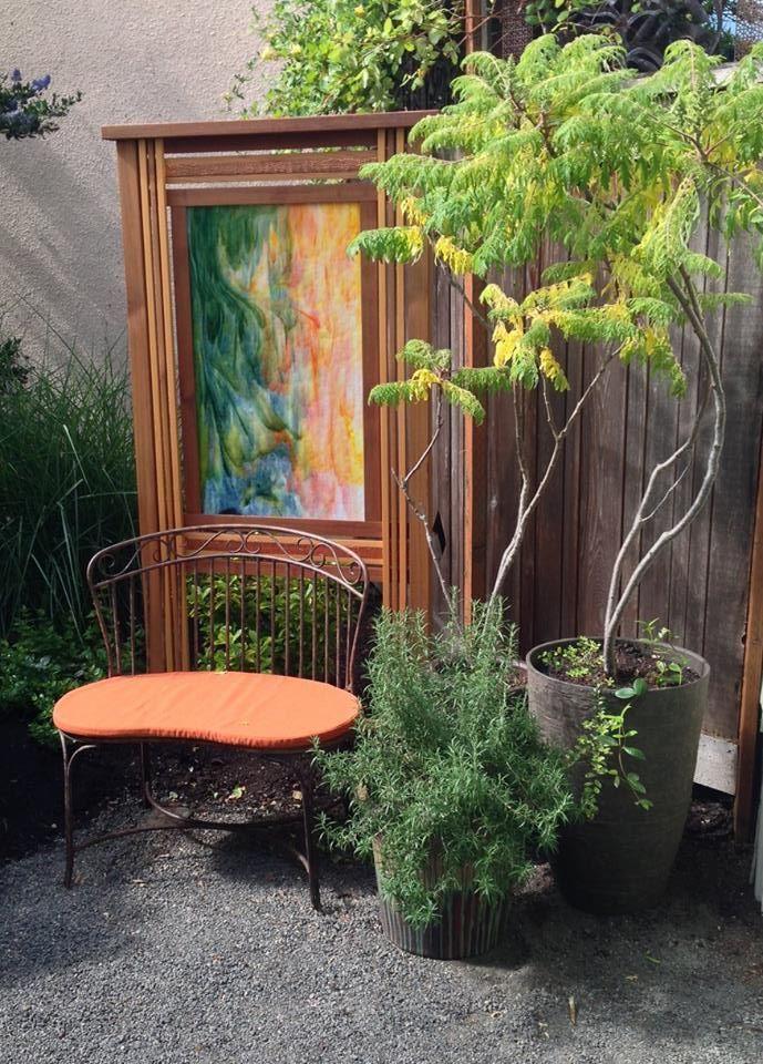 garden art by james alyse lansing garden design - Orange Garden Decor