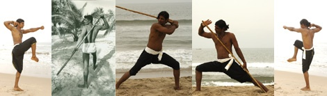 Silambam is a weapon-based Indian martial art from Tamil Nadu. Silambam art uses various kinds of weapons or bare hands. Some movements are inspired by animals such as snake, tiger, eagle. Footwork is also very important.