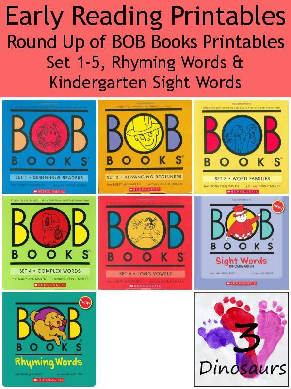 BOB Books Printables Round Up - 3Dinosaurs.com