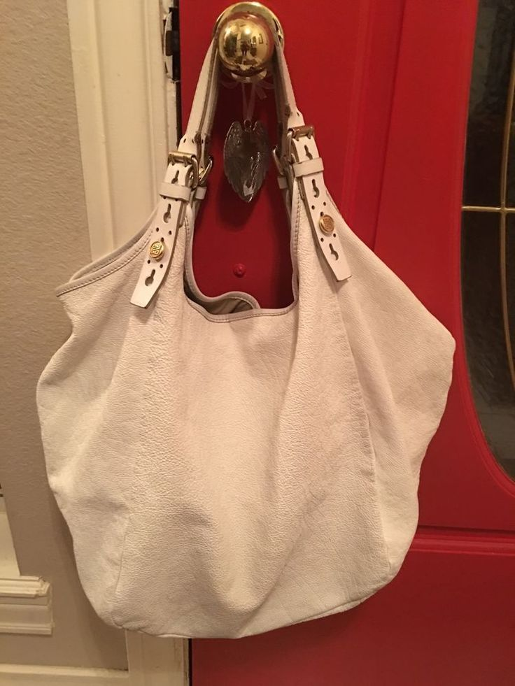 Authentic Givenchy SACCA Hobo Tote - White Crinkled Leather & 10 best Catherineu0027s eBay Store images on Pinterest | Red doors My ... pezcame.com