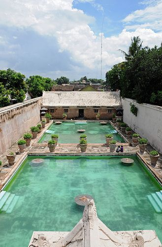 It's called Taman Sari. It's a place where the princess took a bath. Not today though!