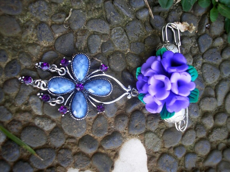 Purple Brooch To Pin
