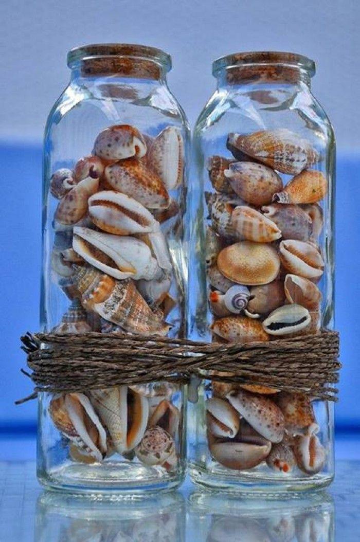 Leuk om schelpen van het strand te verzamelen en zo te bundelen.