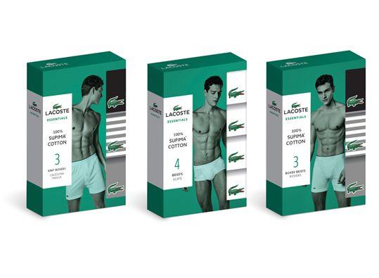 Lacoste Men's Underwear Packaging on Behance … | Pinterest