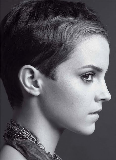 Emma Watson. I don't care what anyone says I love her short pixie hair cut. She's pretty no matter what.