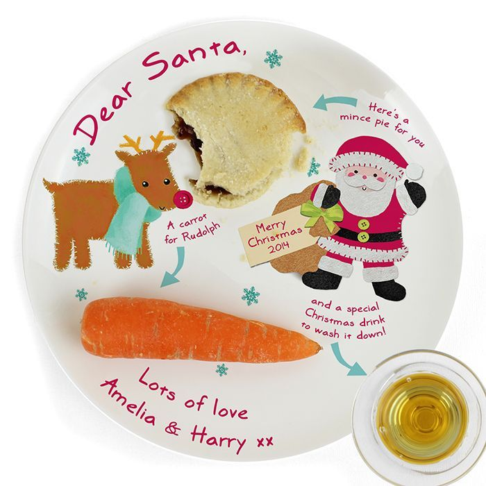 Personalised Felt Stitch Friends Mince Pie Plate, This fantastic mince pie plate is the perfect way to get the little ones (and old ones) excited for Christmas