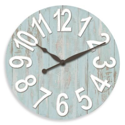 High Quality Give Your Décor A Beach Vibe With The Transatlantic Wall Clock. It  Perfectly Captures Coastal Style With Its Raised Numbers, Distressed  Finish, ...