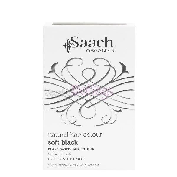 Saach Organics colore per capelli Nero. ll primo trattamento naturale per i capelli, semi-permanente, che mantiene a lungo il colore. Questo colore naturale, riequilibra e nutre il fusto del capello, ne previene la rottura e la secchezza, lasciando i capelli brillanti e voluminosi. Con il colore Soft Black, si ottiene un colore nero. La confezione contiene una busta di polvere da 75gr,  guanti, cuffietta , shampoo protettivo #SAACHORGANICS. #hennènero #vecchiabottega #acquistionline…