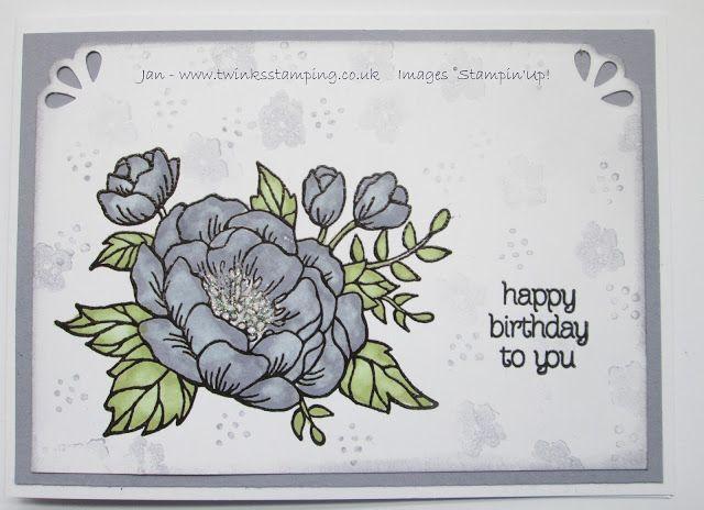 Twinks Stamping   Stampin' Up! Demonstrator: Birthday Blooms in Wisteria Wonder