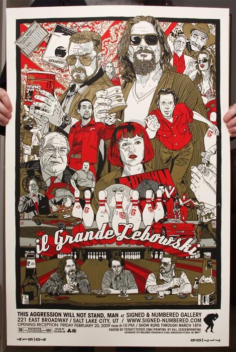 Il grande LebowskiMovie Posters, The Big Lebowski, Dude Abide, Art Show, Grand Lebowski, Mr. Big, Fans Art, Film Posters, Thebiglebowski