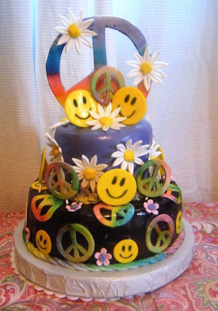 Cake Decorating Ideas Peace Sign : Best 25+ Peace cake ideas on Pinterest Tye dye cake, Diy ...