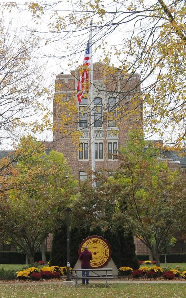 **Inspiration Site** Warriner Hall on the campus of Central Michigan University. The place Aleksandr proposes to Auden